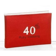 Ruby Wedding Photo Album by Shudehill giftware