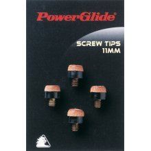 11mm Screw Snooker Cue Tips - Powerglide Pool Accessories 4 Pack -  powerglide screw snooker pool accessories 11mm cue tips 4 pack