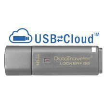 Kingston Technology DataTraveler Locker+ G3 16GB 16GB USB 3.0 (3.1 Gen 1) Type-A Silver USB flash drive