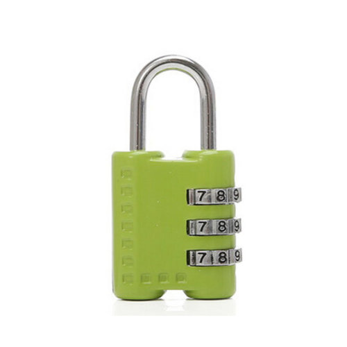 Mini 3 Digits Travel Luggage Suitcase Metal Coded Lock?green