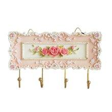 Gift Creative Decorative Classical Pastoral Hooks 4 Hook Fashion Utility Rose