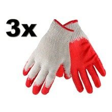 3 Pairs Cotton Protective Garden Gardening Gloves Perfect Grip Standard Size