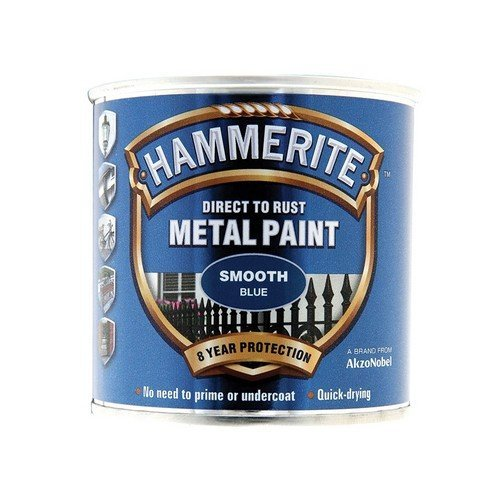 Hammerite SFB250 Direct to Rust Smooth Finish Metal Paint Blue 250ml