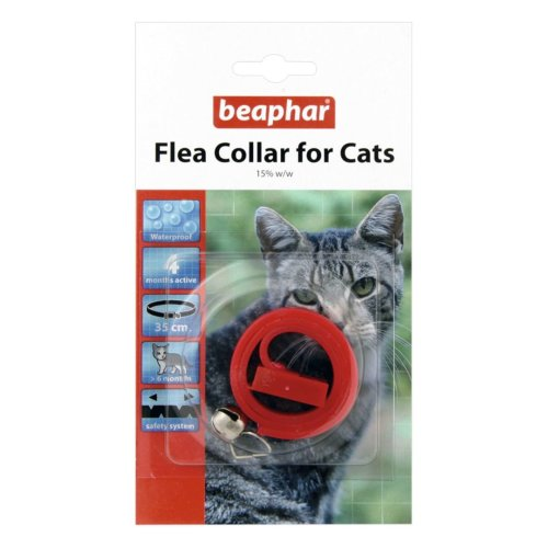 Beaphar Cat Plastic Flea Collar Mixed Colours 35cm (Pack of 12)