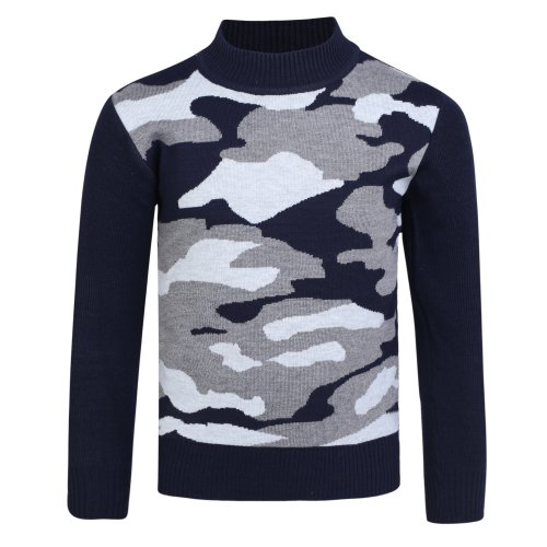 Boys Knitted Pullover Camo Jumper 1787