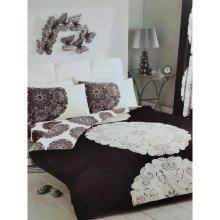 Manhatten black/cream duvet cover bedding set