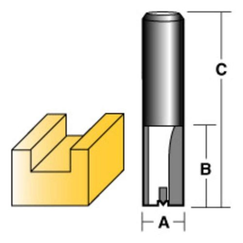 "CARBITOOL STRAIGHT ROUTER BIT 15MM 1/2"" SHANK"