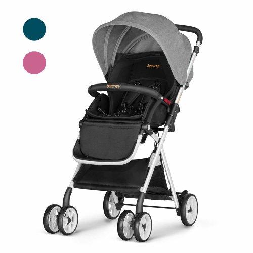 Besrey Baby Stroller Folding Pushchair Lightweight Infant Travel Buggy - Grey