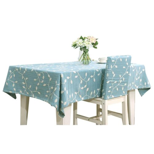 Blue Table Cloth Embroidery Art Tablecloths 47 by 63 inch