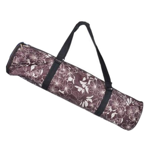 Simple Style Yoga Mat Tote Bag Carrier:  Lightweight Durable Waterproof [Brown]