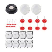 8 Pcs White Pig Buckle Caps/Fixer Pins/Unlocker Set Removable Buckle Fixer Clips