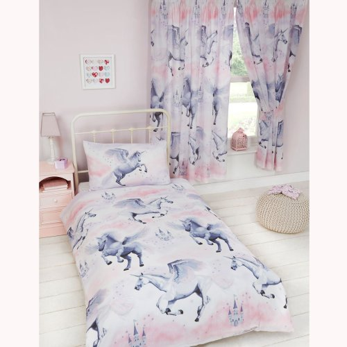 Stardust Unicorn Single Duvet Cover and Pillowcase Set