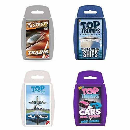 Top Trumps Transport Card Game Bundle - Cars, Ships, Planes and Trains