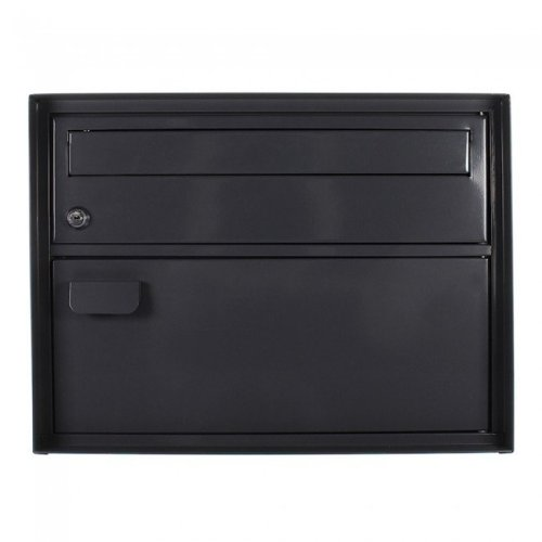 Large Swiss Style Enzian Anthracite Mailbox Rottner