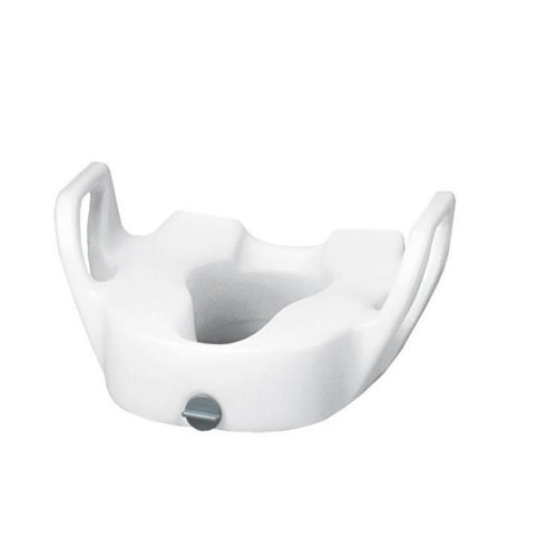Drive Medical 12013 Premium Plastic Elevated Toilet Seat with Lock With Arms