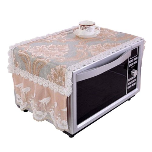 [Coffee] Fashionable Microwave Oven Dust Cover Dustproof Cloths