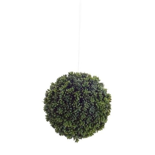 Melrose International 70691 6 in. Orb Plastic, Green - Set of 4