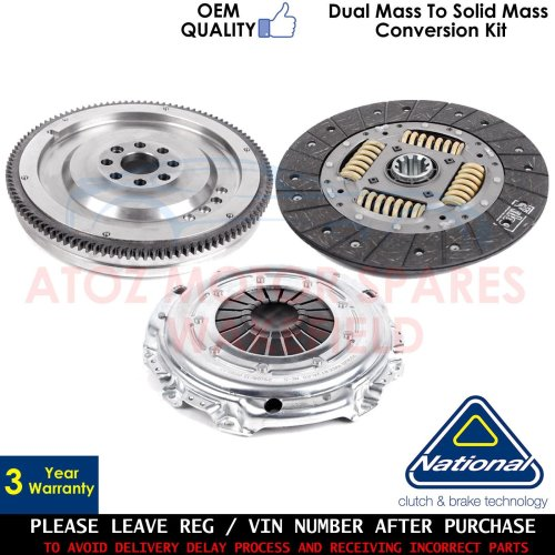 FOR MERCEDES SPRINTER DUAL TO SOLID MASS FLYWHEEL CLUTCH CONVERSION KIT 00-06