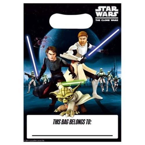 Clone Wars (star Wars) Party Loot Bag 8 - Star Bags Pack -  wars star party 8 clone loot bags pack