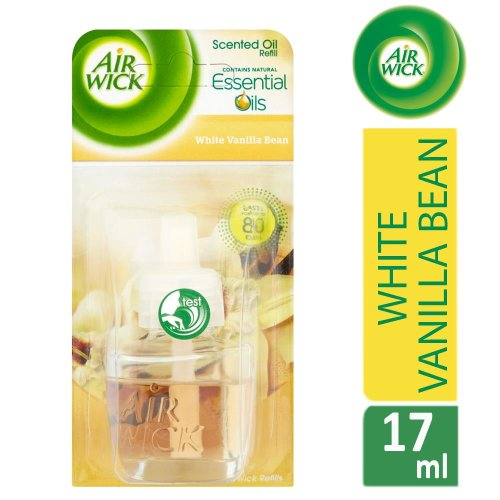 Air Wick Electrical Plug In Air Freshener Refill White Vanilla Bean 17ml