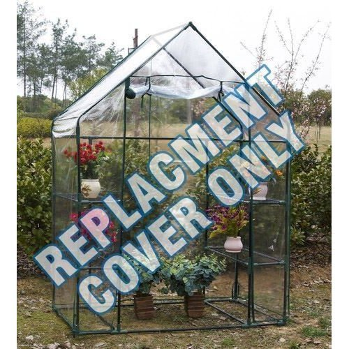Replacement Spare Clear Pvc Cover For Walk in Greenhouse Size: W143Xd73Xh195Cm