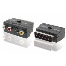 RGB SCART Male to Composite 3 RCA S-Video Audio TV Adapter VCR