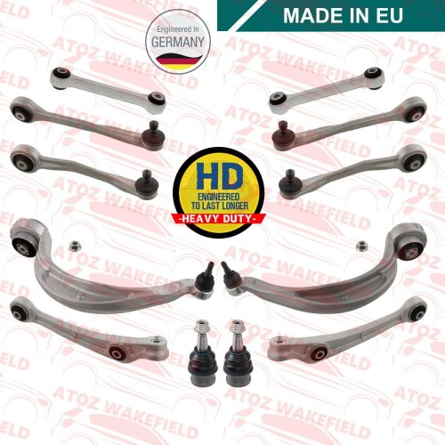 AUDI A4 B8 2007/> 2015 FRONT 4 UPPER /& FRONT REAR TRACK CONTROL WISHBONE ARMS KIT