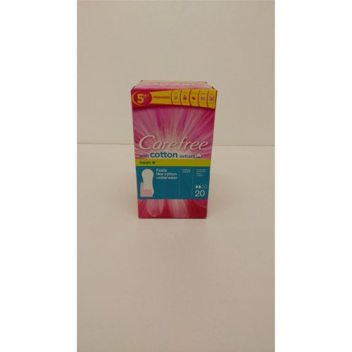 Carefree with Cotton Extract Breathable Pantyliners FOUR PACK 4x20