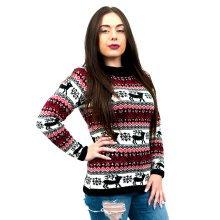 Miss Lulu Women Thicker Christmas Jumper Reindeer Knitted Sweater