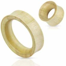 Urban Male Organic White Crocodile Wood Double Flared Flesh Tunnel 40mm