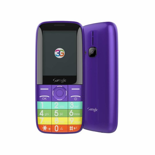 """Samgle Unlocked SIM Free Mobile Phones - 3G Phone Dual SIM GSM Quad-Bands with 2.4"""" Color Screen - 1450mAh Capacity with Camera and MicroSD Card..."""
