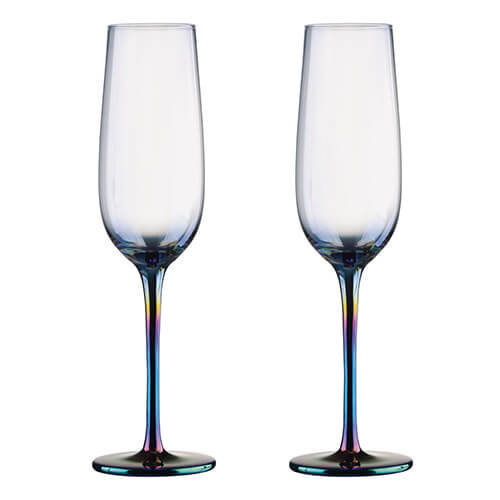 Artland Mirage Set Of 2 Champagne Flutes