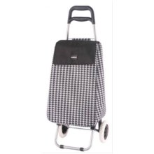 Sabichi Penelope Houndstooth 2 Wheel Shopping Trolley -