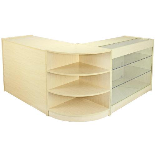 Titan Maple Shop Counter & Retail Display Set