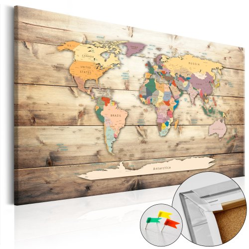 'The World at Your Fingertips' Decorative Pinboard