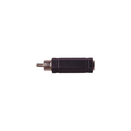 Phono Plug to 6.35 mm Stereo Socket Adaptor