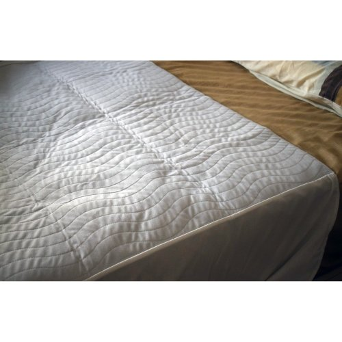 Incontinence absorbent bed pads - Single washable bed pad with tucks