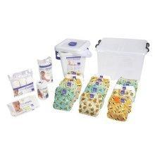 Bambino Mio, Miosolo Reusable Nappy Premium Birth To Potty Pack, Onesize, Geometric
