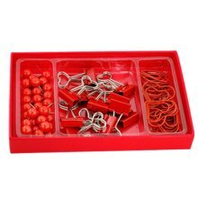 Different Kinds of Drawing Pins Pushpins Clips Tacks Set Office Accessory – Red