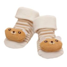 3 Pairs Non-slip Newborn Baby Toddler Socks Comfortable Warm Stockings Baby Birthday Gift For 6-12 month-A10