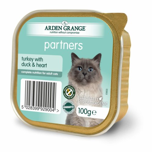 Arden Grange Cat Partners Turkey with Duck and Heart, 100 g, Pack of 16