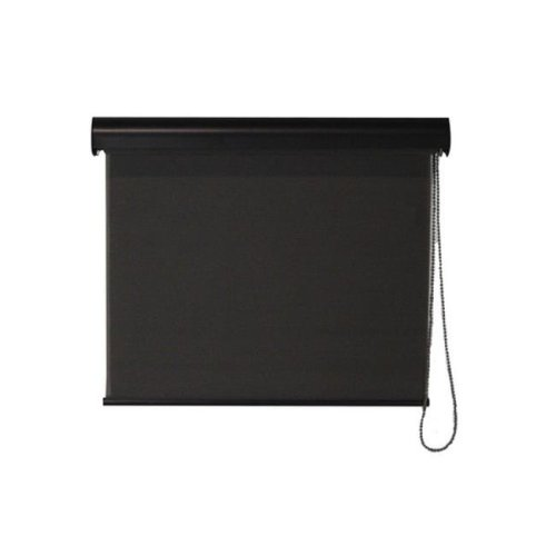 Keystone Fabrics I40.23.3008 Interior Corded Sunshade with Valance, Dark Brown - 23 x 72 in.