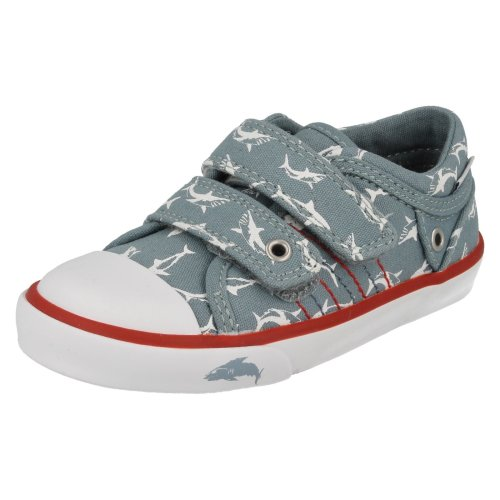 Boys Startrite Canvas Shoes Sea Spray - F Fit