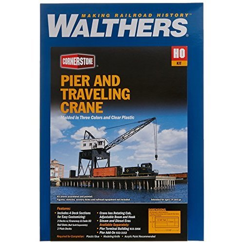 Walthers Inc Pier Traveling Crane Kit 1 2