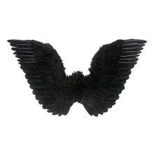 Black Feathered Wings 86x31cm Accessory For Fancy Dress -  wings black angel feathered 86x31cm accessory fancy dress