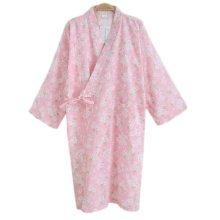Japanese Style Women Thin Cotton Bathrobe Pajamas Kimono Skirt Gown-D01