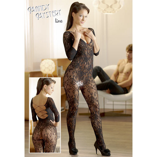 Catsuit made of black floral lace  Ladies Lingerie Cat suits - Mandy mystery Line