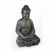 Large Detailed Stone Look Resin Buddha Statue Ornament