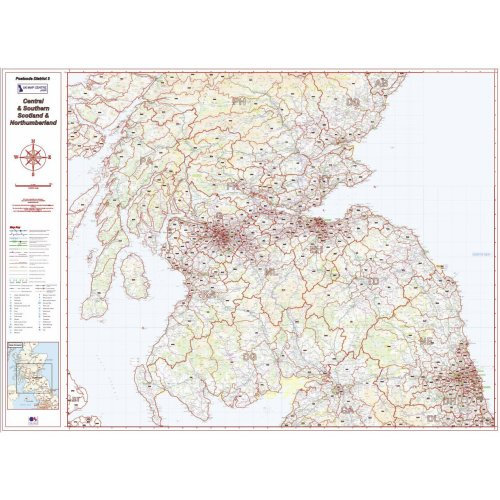 Postcode District Map 3 - Southern Scotland & Northumberland