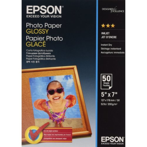 Epson 13 x 18 cm Glossy Photo Paper (Pack of 50)